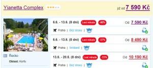 Dovolená na Korfu: letecky za 7 590 Kč