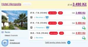 Nejlevnější dovolená v Řecku - Chalkidiki za 3 490 Kč